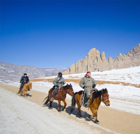 Mongolie centrale avec petit Trekk
